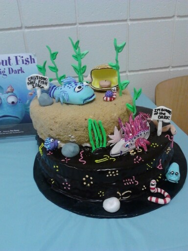 1000 images about erin metzger cakes on pinterest the o for The pout pout fish in the big big dark