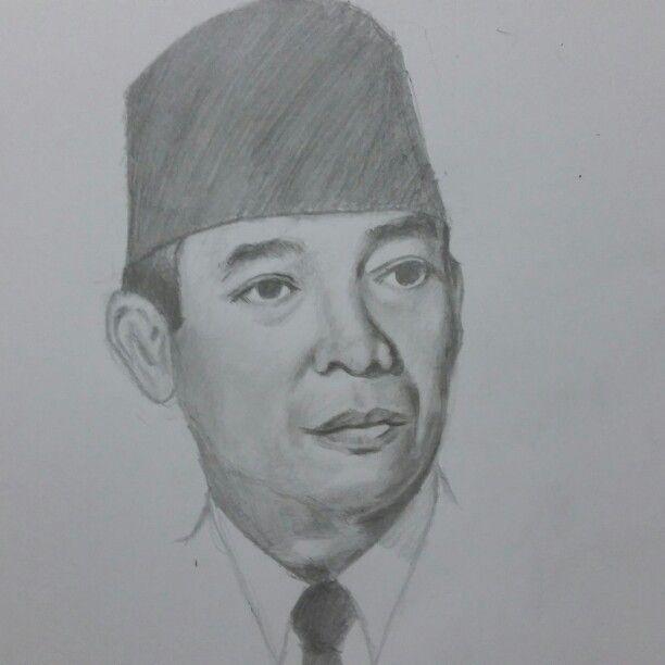 Sketch by me ..indonesian proclamator ir.soekarno..