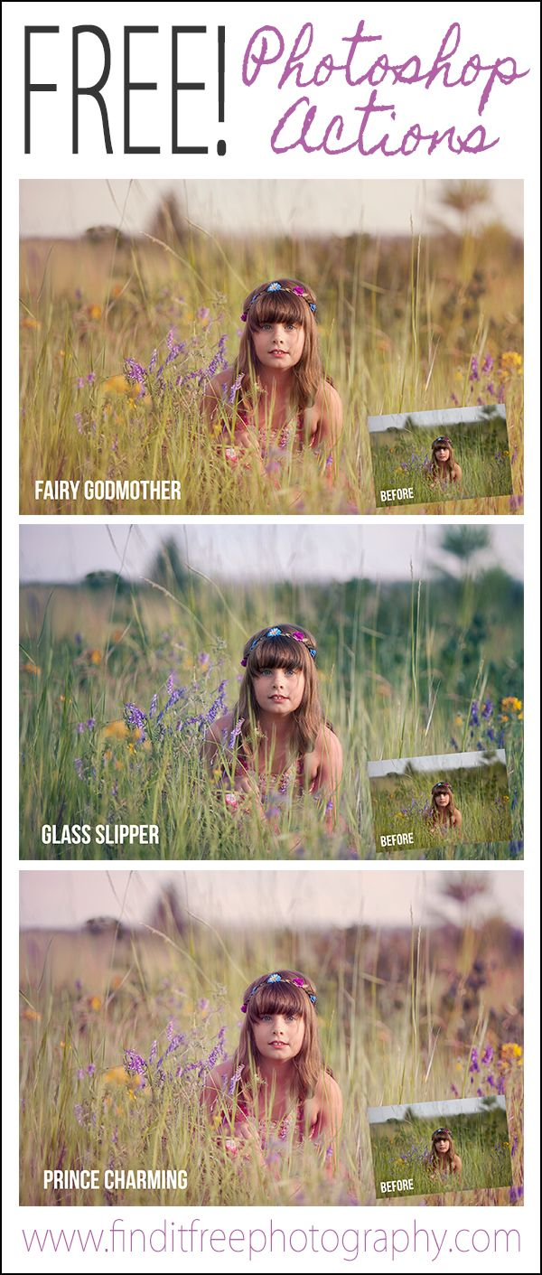 3 Awesome FREE Photoshop Actions! Tons more at this site too!