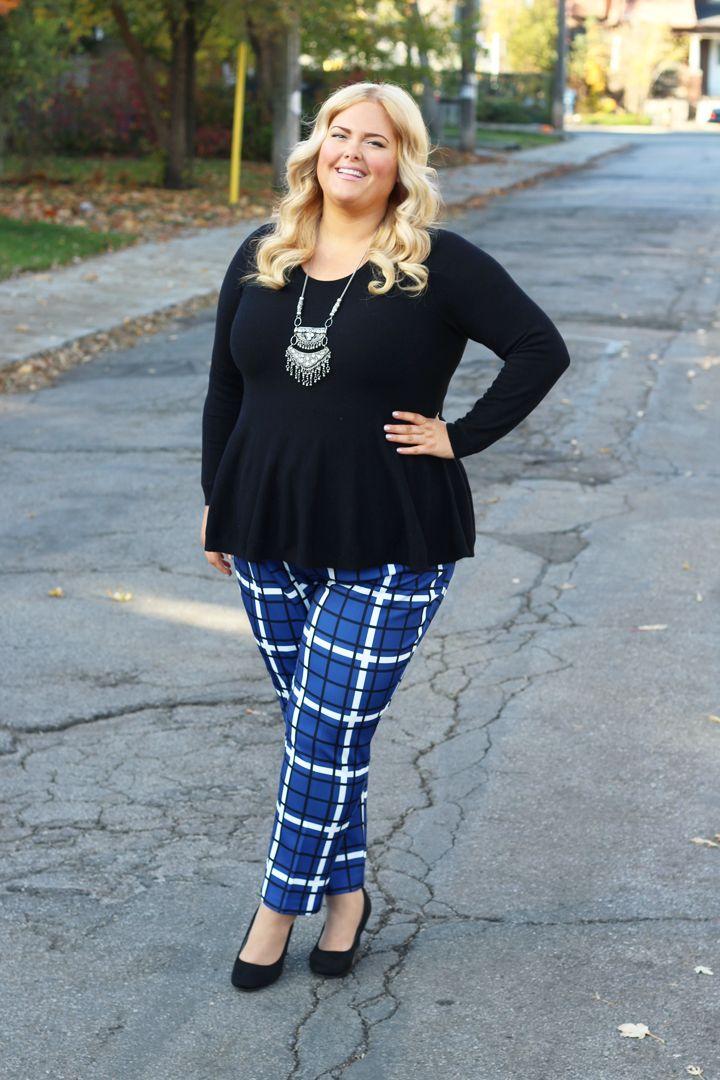 Plus Size Plaid Pants - Plus Size Fashion
