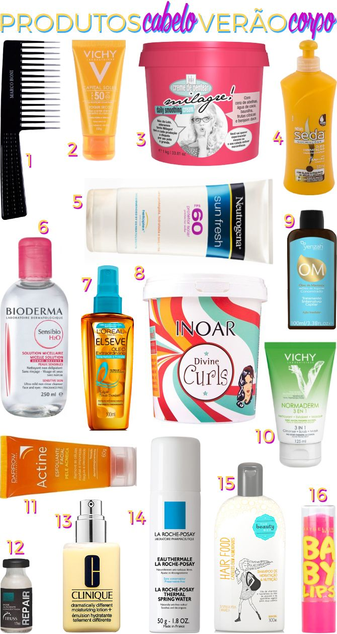 Confira os produtos essenciais para proteger o corpo e deixar o cabelo cacheado hidratado e saudável no verão, a estação mais quente do ano.