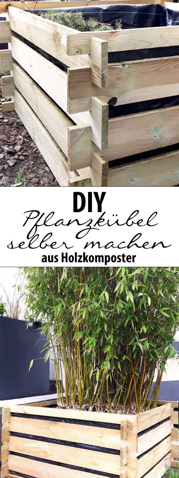 DIY: Pflanzkübel selber machen aus Holzkomposter - schnell & günstig!