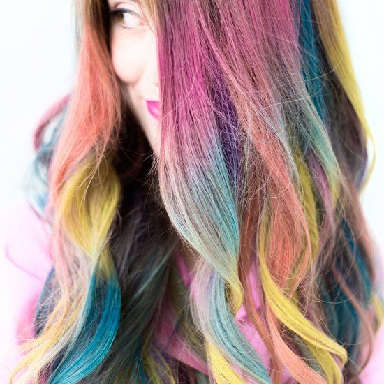You're going to DYE (see what I did there?? Ha!) over this tutorial! Rainbow Colombre hair for everyone!