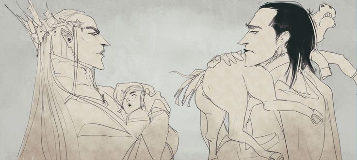 Young Fathers Club by Oriental-Lady. Thranduil and Loki - HA!