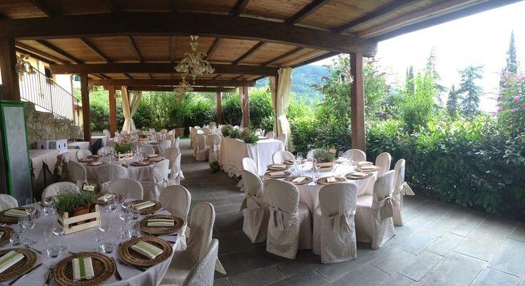 rustic wedding in Tuscany at I Tre Baroni