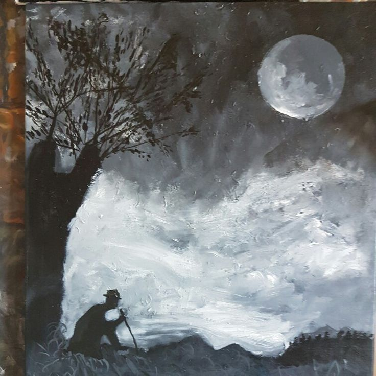 Sadness oil painting