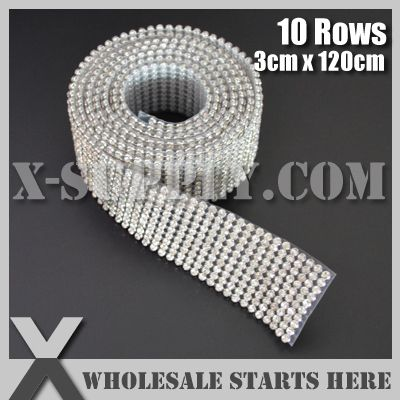 3mm 10 linhas metal mesh rhinestone guarnição strass cristal em base de prata com cola de volta para o vestido de noiva, bolo, vinho e casamento US $10.00