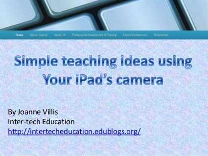 Simple teaching ideas using your iPad's camera function
