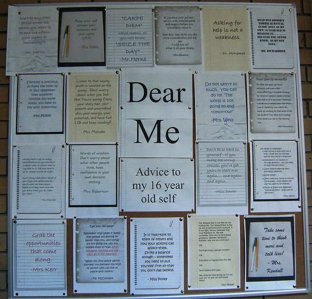 Idea...have them write to themselves and give it to them when they graduate high school!!