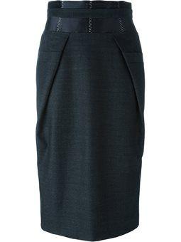 юбка-карандаш с панельным дизайном
