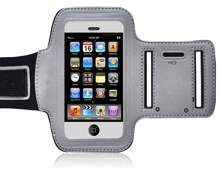 """Ionic ACTIVE Sport Armband Case for """"The new iPhone"""" new Apple iPhone 5 6th Generation 5G (AT&T, T-Mobile, Sprint, Verizon)(Black-Silver) [Doesn't fit iPhone 4/ iPhone 4S]. Compatible with the following versions of """"The new iPhone"""" new Apple iPhone 5: AT&T, US Celluar, T-Mobile, Sprint, Verizon. Design specifically for New Apple iPhone 5 6th Generation. Strechable for maxium protection and comfort. Offers full protection for your Apple iPhone 5. Great Unique and Bright Design."""