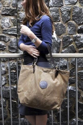 Waxed Canvas Market Tote | Made in the USA by Duluth Pack - Velvet Moon | a modern bohemian boutique