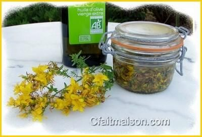 huile d'olive et millepertuis.