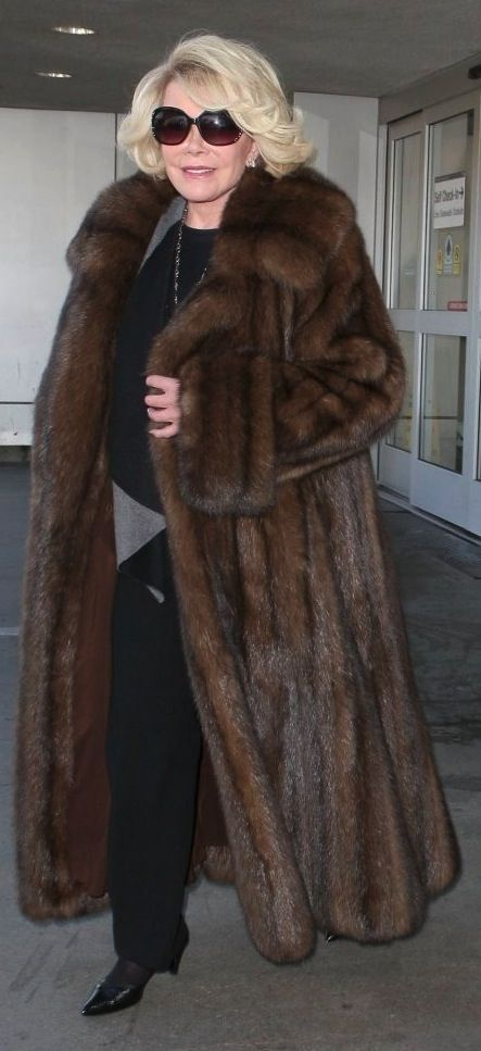 Fur Fashionista Joan Rivers in Sable.  God Bless her family