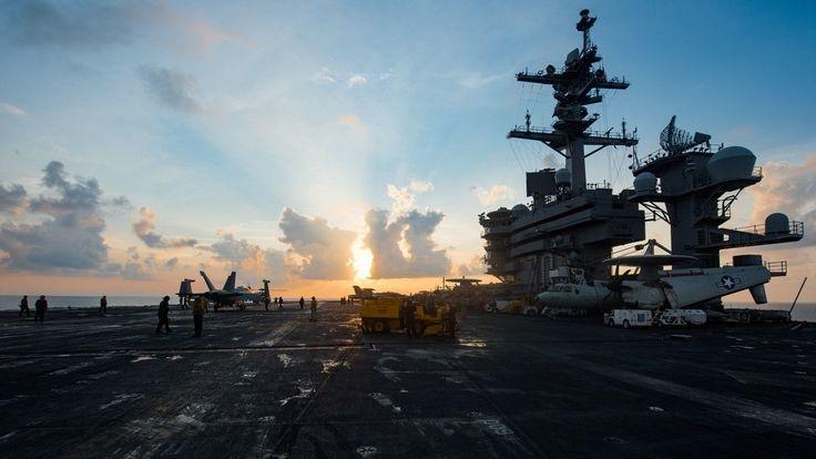 US Navy carrier strike group sets its sights on North Korea #Politics #iNewsPhoto