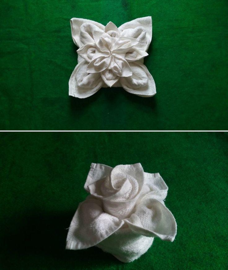 handtücher-falten-blumen-rose-lotosblume-weißes-handtuch