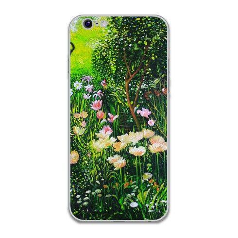 Spring Tulip Flowers  iPhone Skin by simon-knott-fine-artist at zippi.co.uk