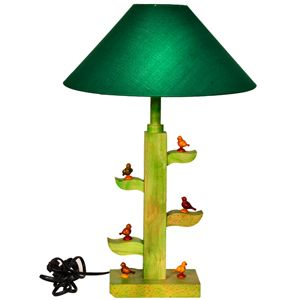 Gift this tree of life lamp depicting 6 multicolored handcrafted parrots in wood sitting on the branches of the tree. Rs 1775/- http://www.tajonline.com/gifts-to-india/gifts-HEL223.html?aff=pint2014/