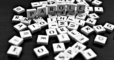words, black and white