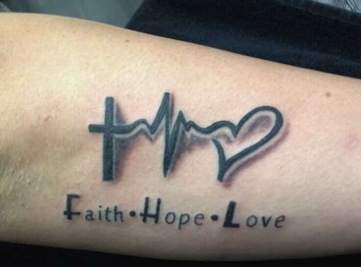 b7da60f6b246c Popularly known as the EKG line tattoo, the pulse symbol is similar to a  little monitor with an irregular line that bounces up and down just like  when a ...