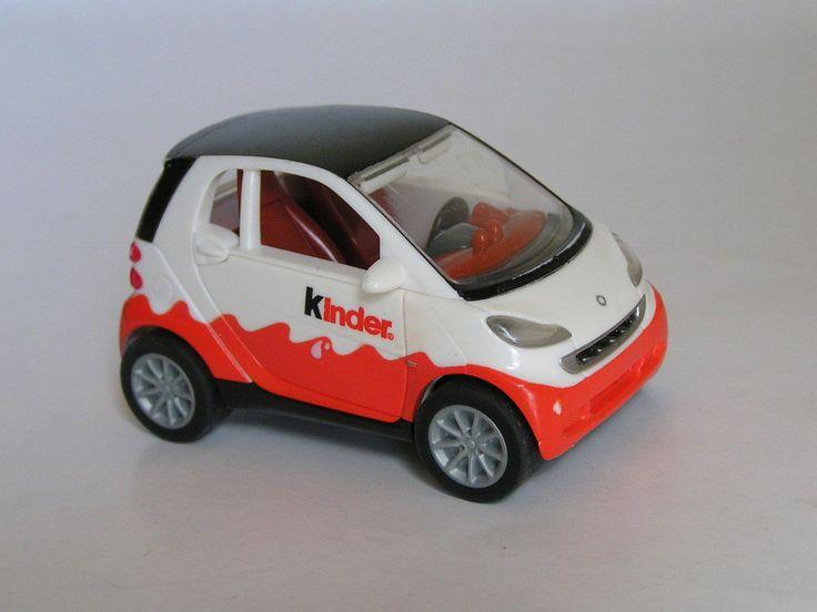 """SMART FORTWO COUPE KINDER EGG SURPRISE MPG TT-3-7 PULLBACK PLASTIC TOY CAR 3"""" #MPG #Smart"""