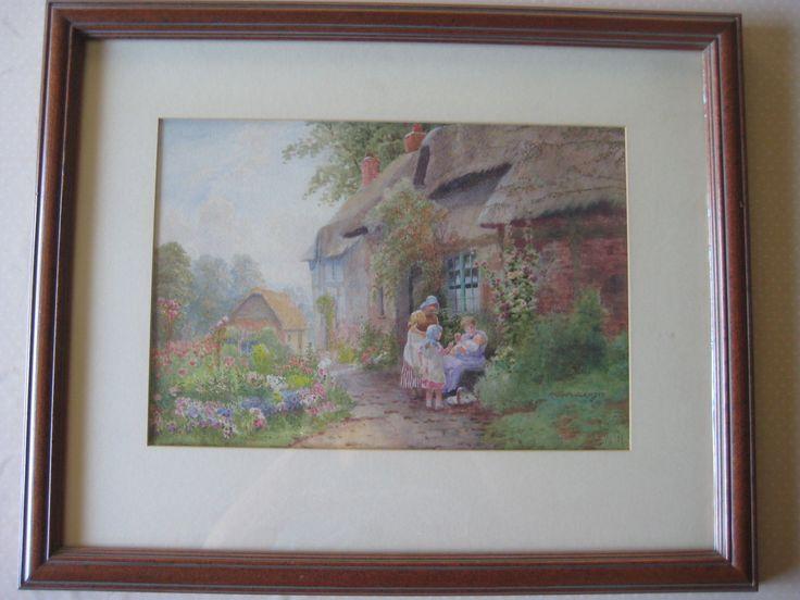 Arthur S Wilkinson Original Watercolor English Thatch