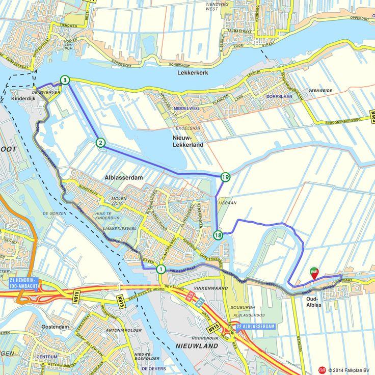Fietsroute: Kinderdijk Kinderroute - Molenroute (http://www.route.nl/fietsroutes/139236/Kinderdijk-Kinderroute---Molenroute/)