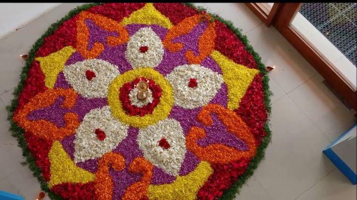 onam special kolam collections/ onam flower kolams/ kolam using flower/o...