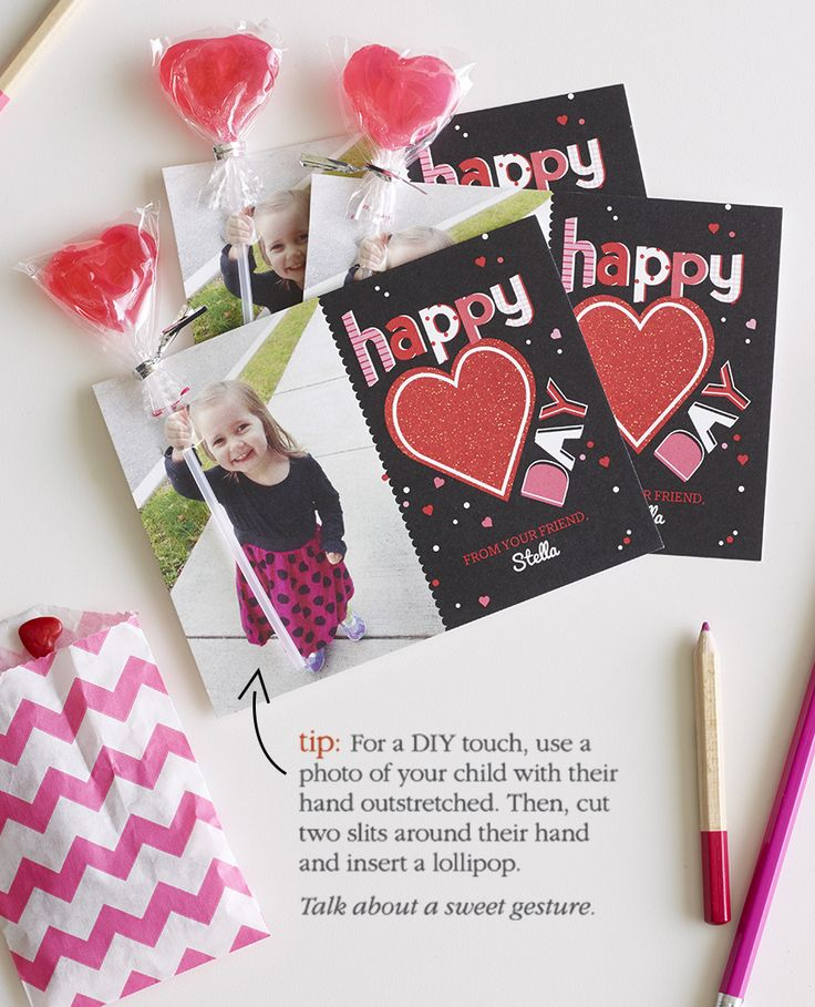Here's an easy DIY that will make your Valentine's Day cards the sweetest in the bunch.