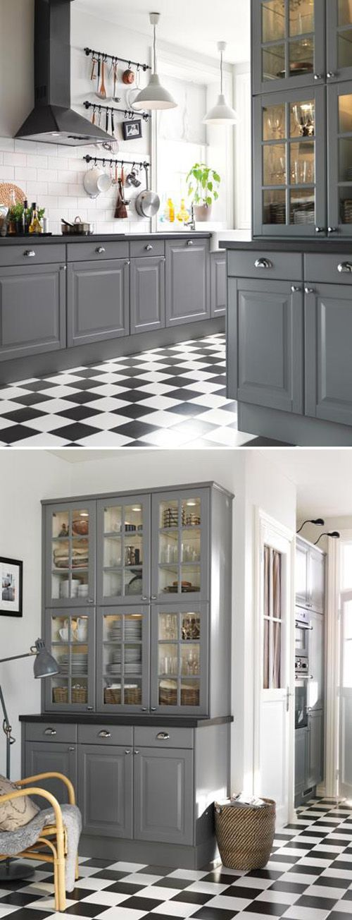 A gray kitchen