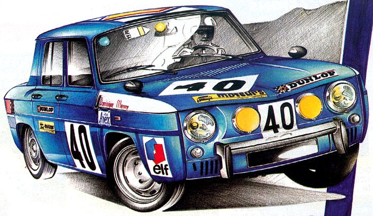 renault 8 gordini coupe circuit dessin pinterest. Black Bedroom Furniture Sets. Home Design Ideas