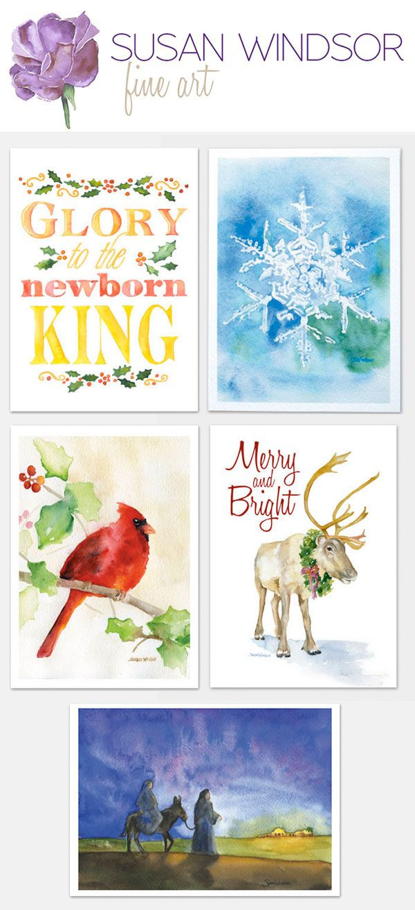 304 Best Watercolour Christmas Cards Images On Pinterest Christmas