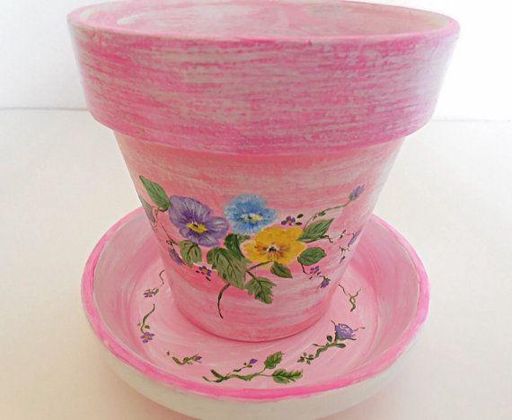2811 best pintura sobre porcelana images on pinterest for Fancy flower pots