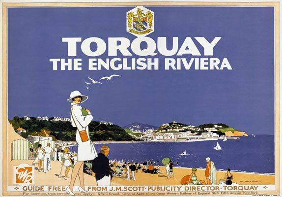 TX52-Vintage-1920s-GWR-Torquay-English-Riviera-Railway-Travel-Poster-A1-A2-A3