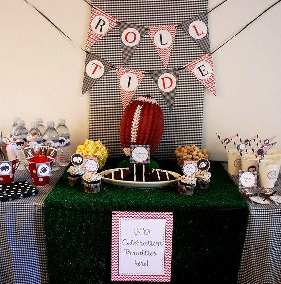 alabama football parties | PRINTABLE Alabama Football Party Decor Package | love