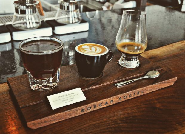 4. Boxcar Social- Riverside  4 Boulton Avenue, Toronto  Check out my review! #coffeeshop #whiskybar #tastingflights #coffee #cafe #caffeine #yyzcoffee #torontocoffee #IGoEastofYonge  #boxcarsocial #riverside #queeneast #eastsideto #torontoeastside #coffee #reko #tastingflight #pourover #pourovercoffee #espresso #latte #ethiopia #georgehowell #brew #torontocoffeeculture #coffeecultureto #torontocafe #coffeetime #coffeeaddict #coffeeshopvibes #coffeegram #coffeeporn #toronto #exploringto