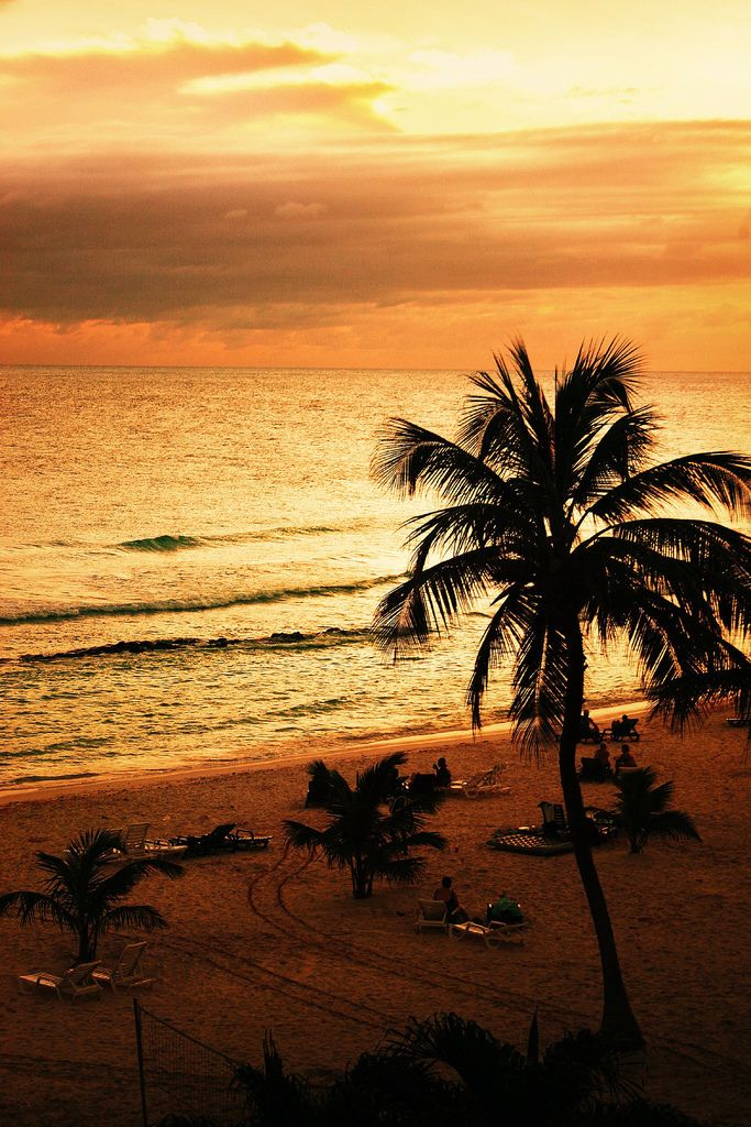 Romantic sunset Barbados