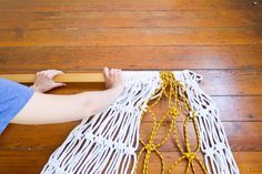 Make it Modern: DIY Two Tone Sail Rope Hammock in home furnishings Category