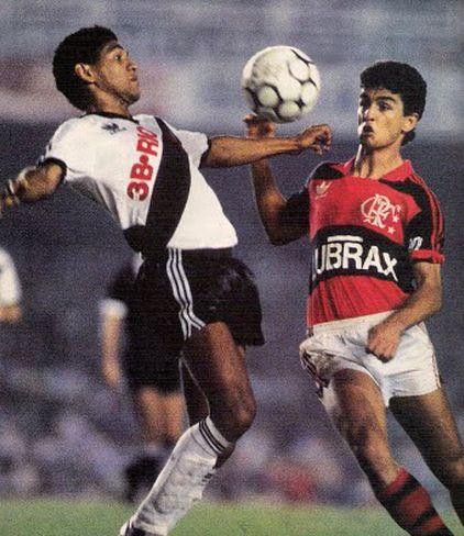 Donato y Bebeto (Vasco da Gama-Flamengo).