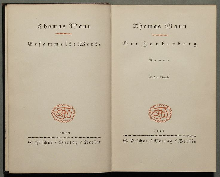 Reference book /// Der Zauberberg, first German edition, 1924  image taken from: https://en.wikipedia.org/wiki/The_Magic_Mountain#/media/File:1924_Der_Zauberberg_%281%29.jpg