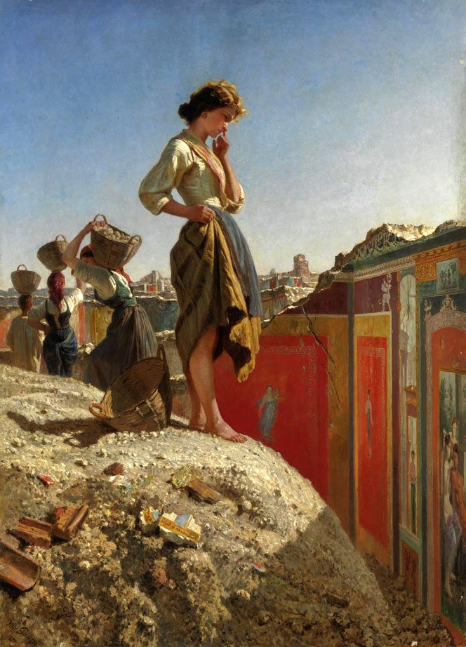 The Excavation of Pompeii by Filippo Palizzi