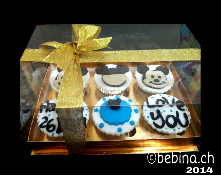 Birthday Cupcakes | Mickey Mouse | 2D | choco | eggless and gluten free