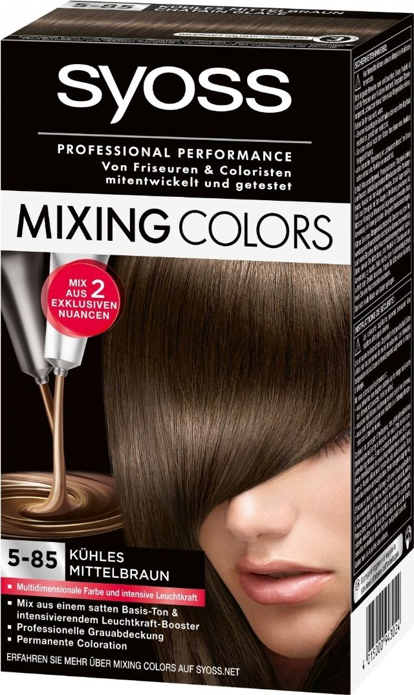 Mixing Colors 5-85 Koel Middel Bruin - Syoss > Mixing colors - Haarverfreus.nl - Goedkope A merken haarverf - l'Oreal, Schwarzkopf, Garnier, Syoss