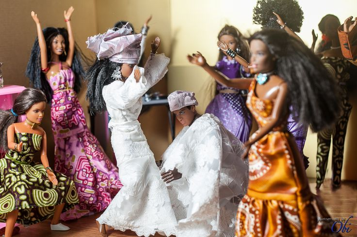 Black Barbie has a Nigerian Wedding <3    I dont know what this is but i think its awesome