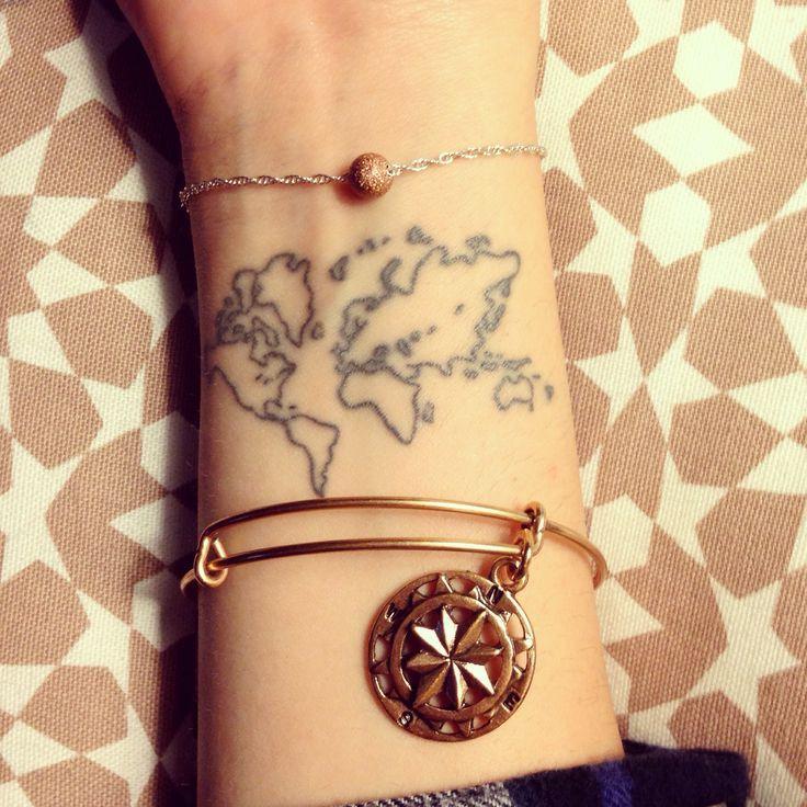worldmap tattoo