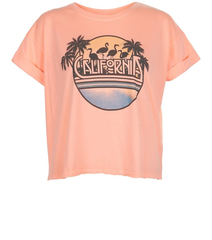 Coral California Roll Sleeve T-Shirt