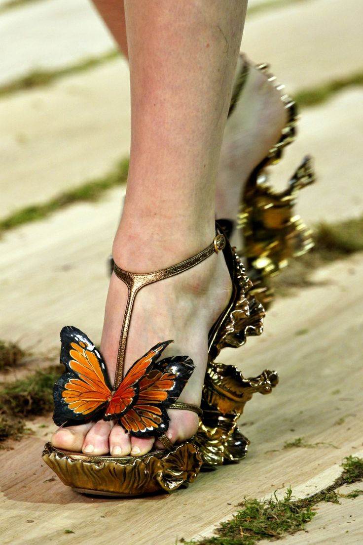 Alexander Mcqueen Monarch Butterfly Shoes For Sale