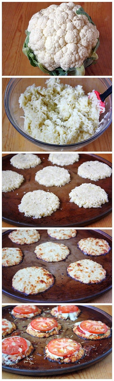 Mini Cauliflower Pizza crusts. We'll most likely be making this with my grandma. :)