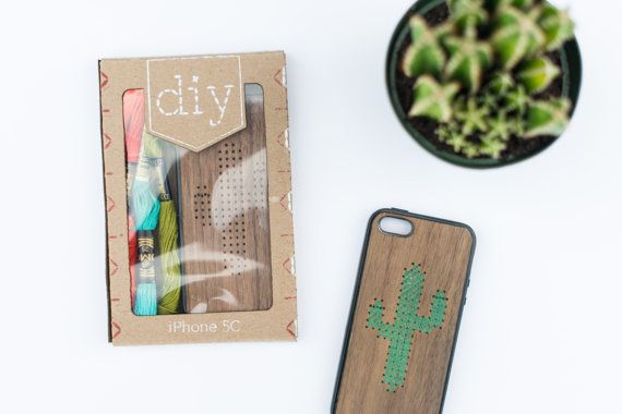 DIY Embroidery iPhone Case Kit by SavvieStudio on Etsy