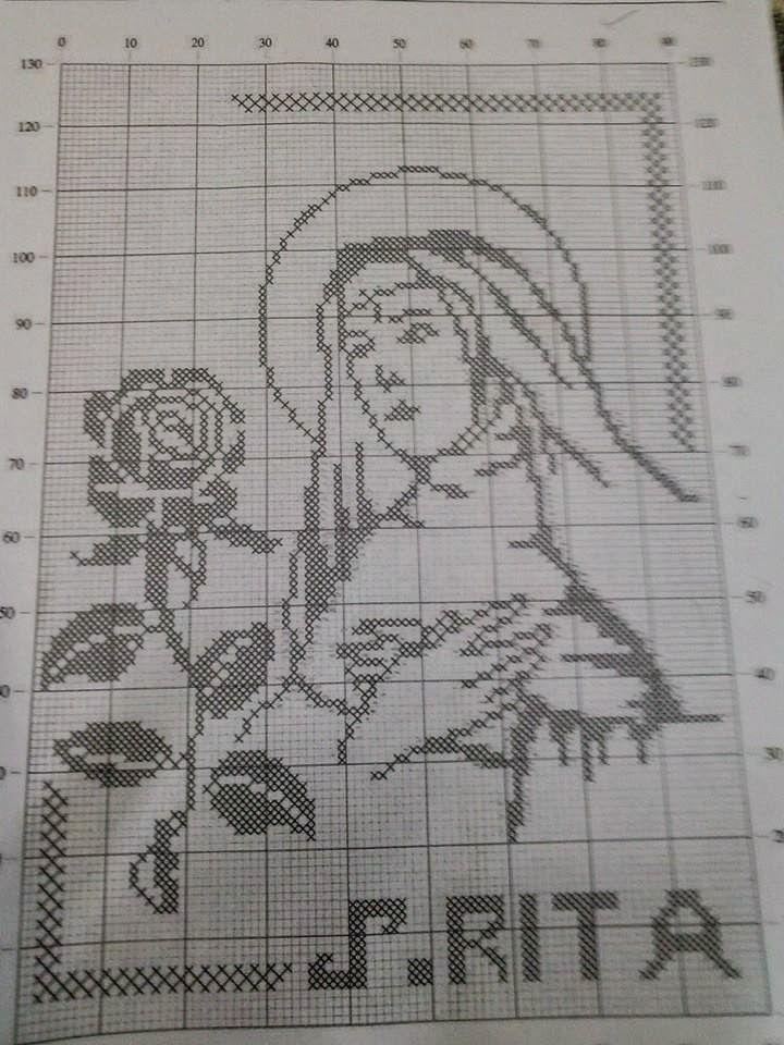 Schema filet - Immagine di Santa Rita   Hobby lavori femminili - ricamo - uncinetto - maglia